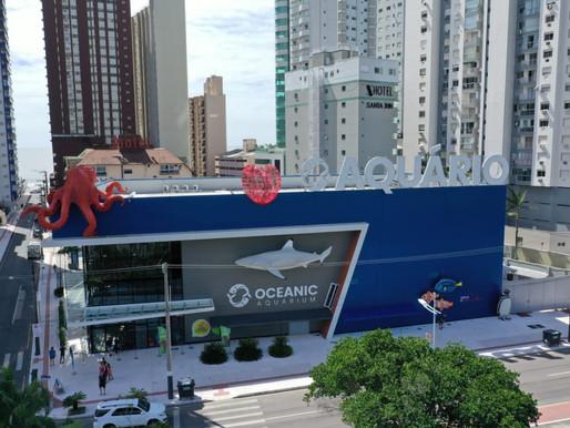 Oceanic Aquarium apresenta obras feitas de materiais recicláveis para o Movimento Tempo de Renascer
