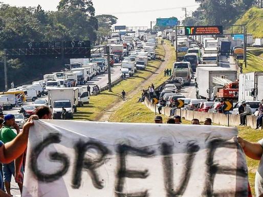 POSSIBILIDADE DE GREVE DOS CAMINHONEIROS A PARTIR DESTA SEGUNDA-FEIRA