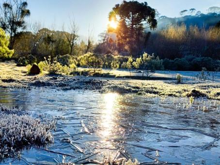 Serra Catarinense amanhecer congelada; Frio de -10ºC