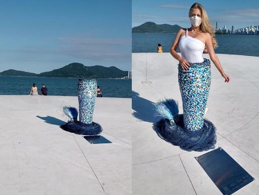 Escultura embeleza Molhe do Pontal Norte em Balneário Camboriú