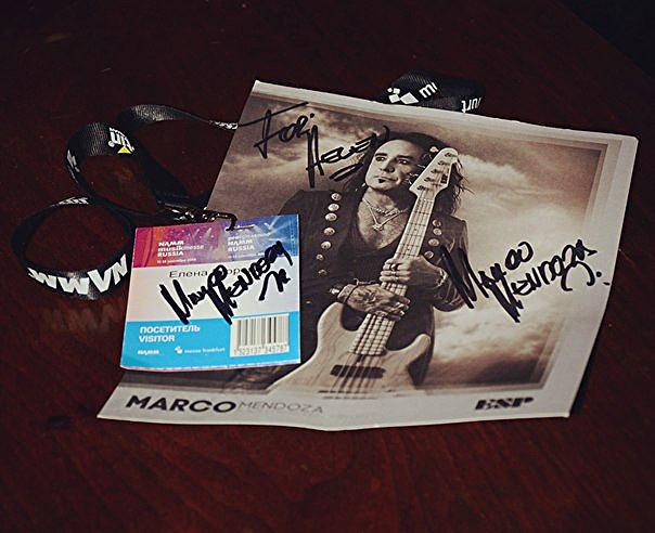 Автограф Марко Мендоза