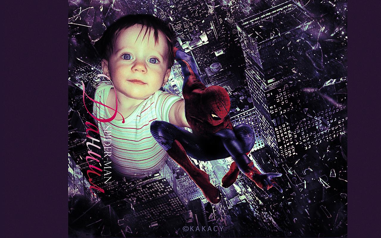 Коллаж с Человеком-пауком