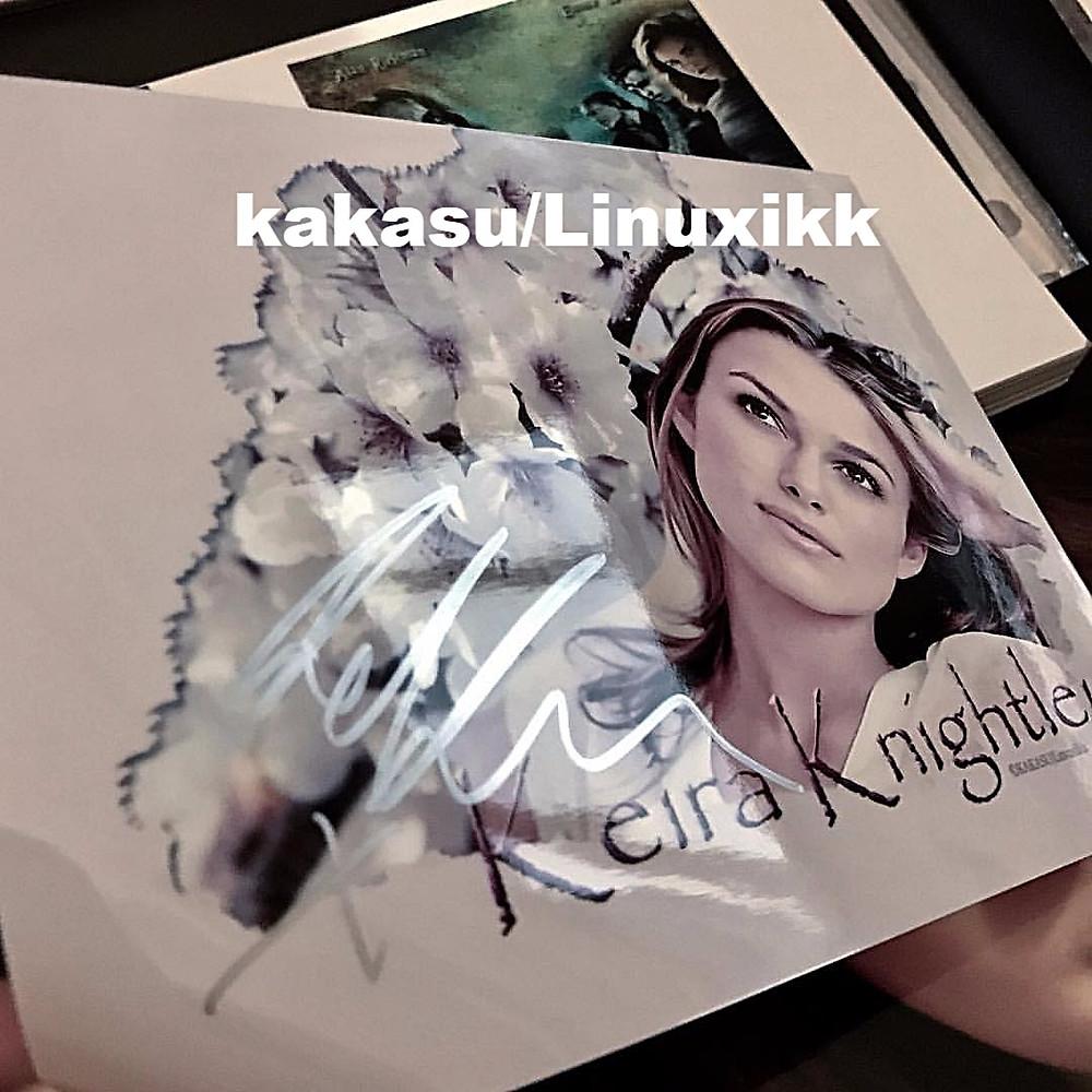 автограф Киры Найтли