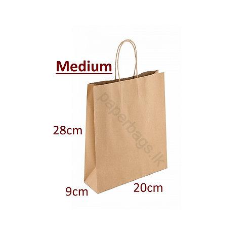 Carrier Bag Brown 28x20x09cm