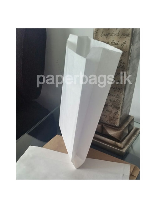 White Flat Bottom Bag