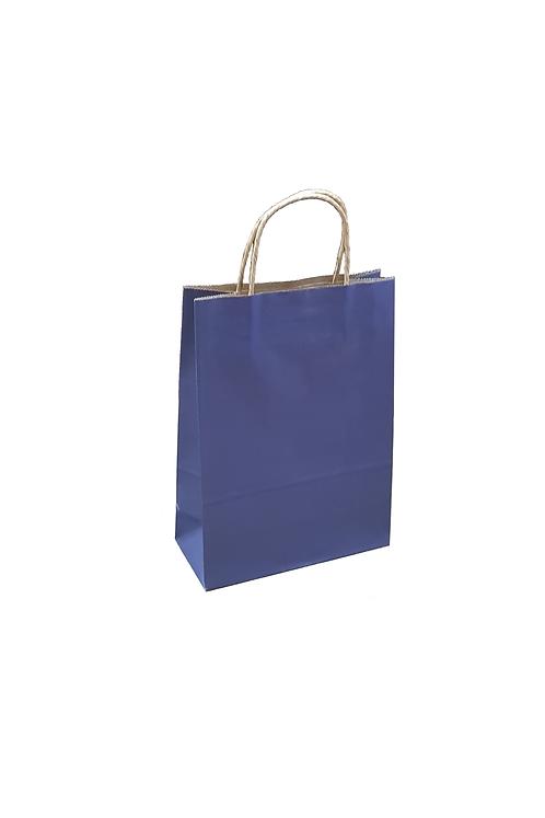 Carrier Bag  Blue 28x20x09cm