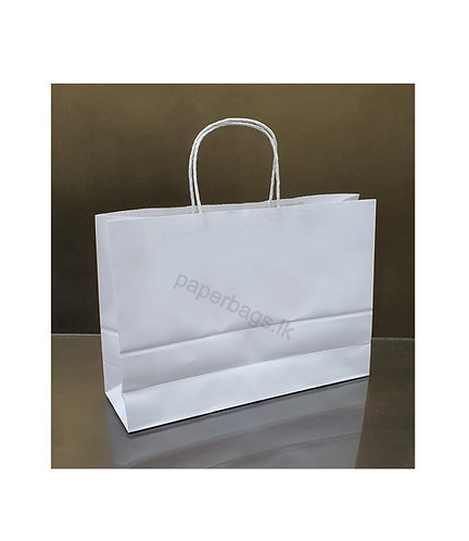 Carrier Bag Solid White 25x32x11cm