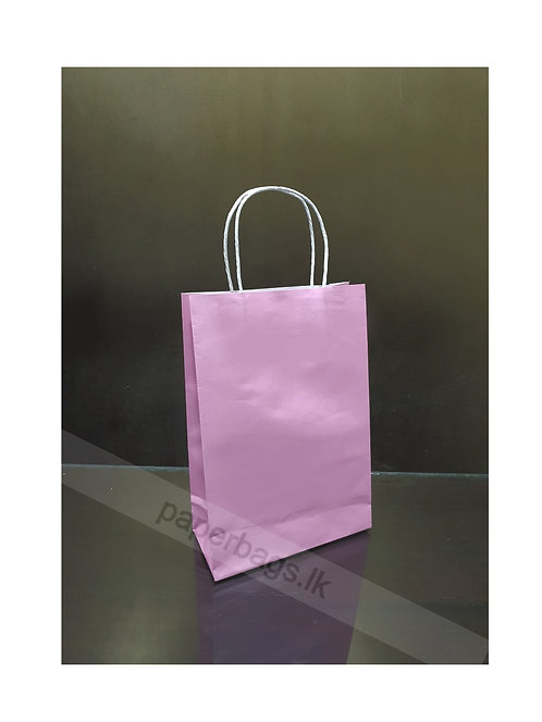 Carrier Bag Baby Pink 28x20x09cm