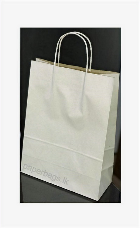 Carrier Bag White 32x25x11cm