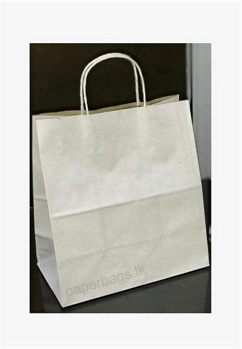 Carrier Bag White 30x29x15cm