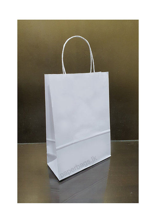 Carrier Bag Solid White 28x20x09cm