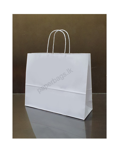 Carrier Bag Solid White 34x33x15cm