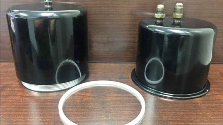 Early 1930's Packard Oil Filter Canisters