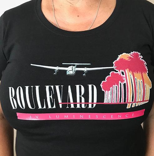 Womens Boulevard IV Luminescence T-Shirt W/pink band
