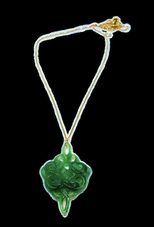 Jade Lucite Necklace