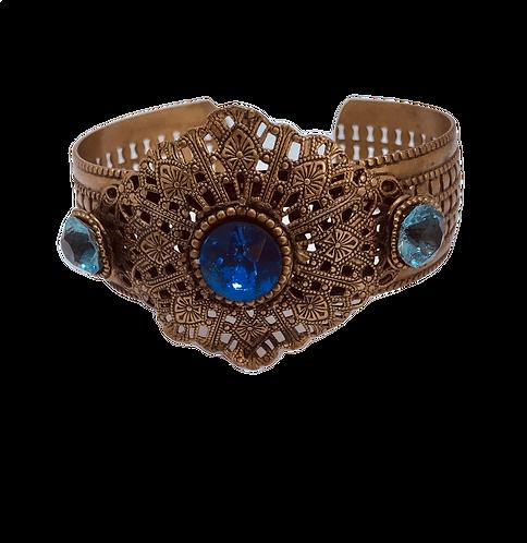 Vintage Blue Stone Cuff