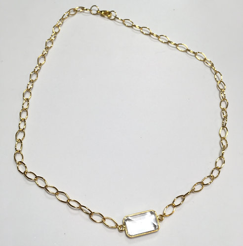 Clarity Rectangle Necklace
