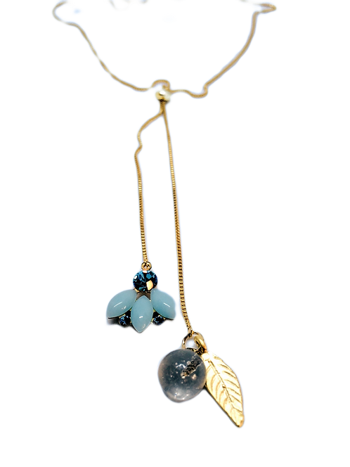 Bluebell Adjustable Lariat Necklace
