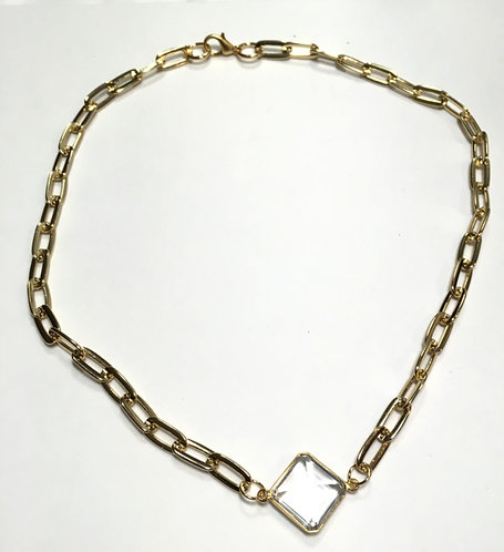 Clarity Diamond Large Necklace