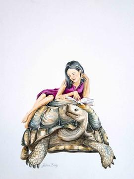 Liseuse à la tortue