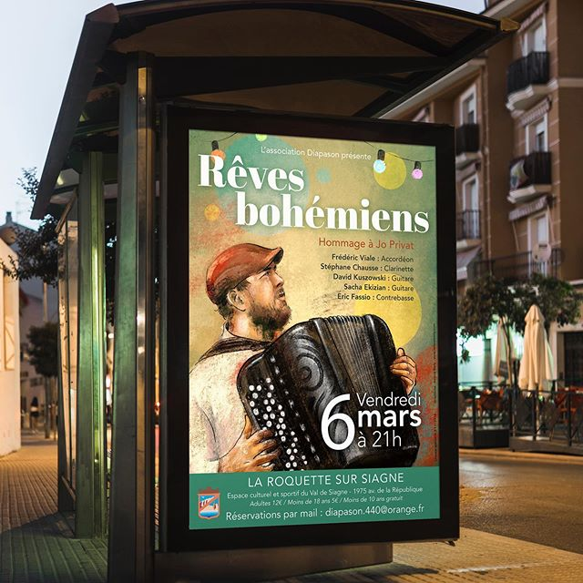 🎼Poster for _fredviale « Rêves Bohémien