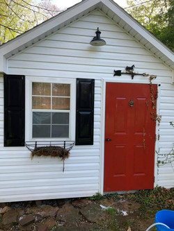 Pressure Washing a shed in Greensburg, PA