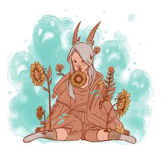 Sunflower Demon @peachy_gore via instagr