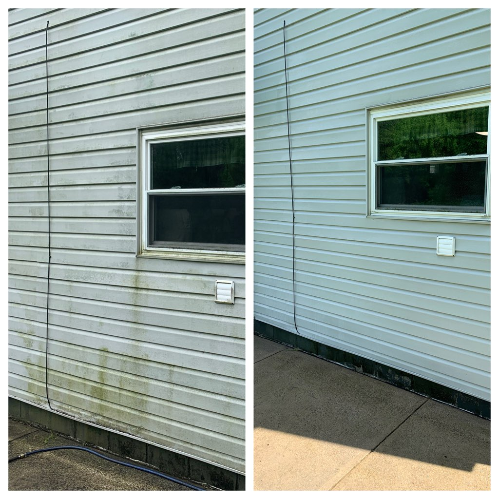 Vinyl Siding Pressure Wash Cleaning. Jea