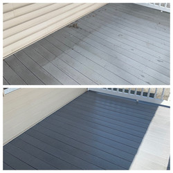 Front Porch Before-and-After pressure wa