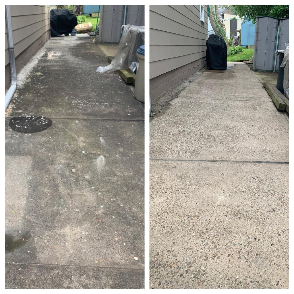 Sidewalk side-by-side comparison Pressur