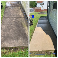 Sidewalk cleaning before-and-after compa