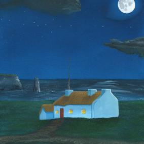 Irish Coast at Night, 2016