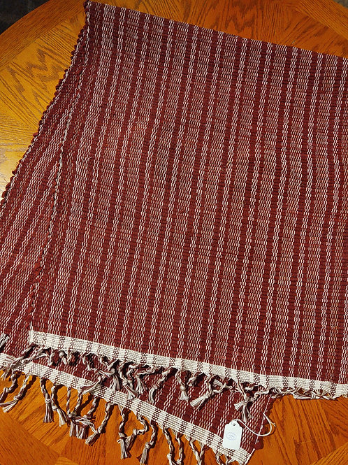 Burgundy Stripe Rug