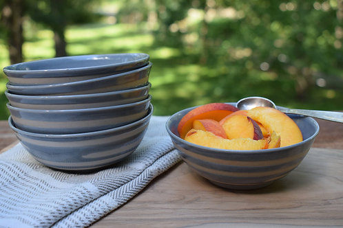 Gray Ceramic Bowl by Emily Kiewel