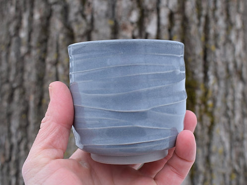 Gray Stoneware Yunomi by Emily Kiewel