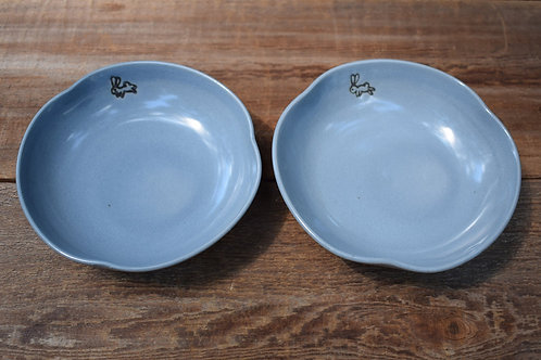 Small Gray Ceramic Dish with Bunny by Emily Kiewel