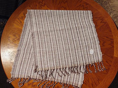 Cream Burgundy Stripes Rug