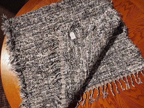 Gray and White Shag Rug