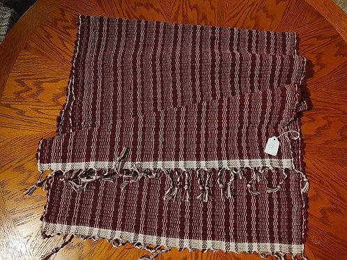 Burgundy Stripe Rug