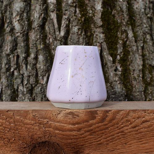 Small Porcelain Pink Vase with 22K Gold Splash by Emily Kiewel