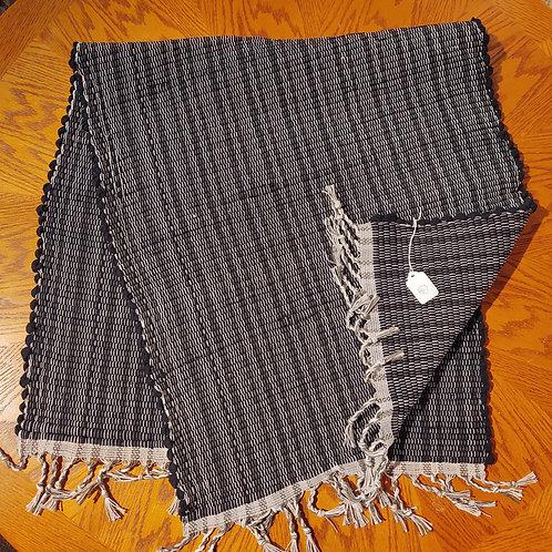 Black Knit Rug