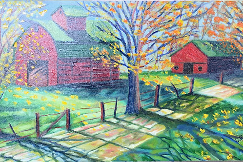 """Shadows on the Country Lane by Chris """"C. J."""" Falkavage"""