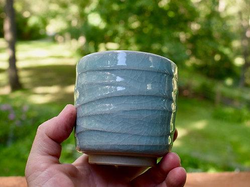 Blue Celadon Yunomi by Emily Kiewel