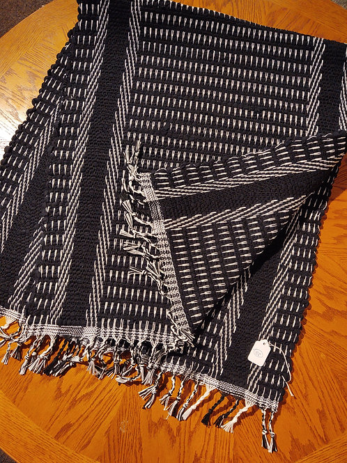Black and White Knit Rug