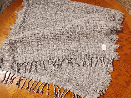 White and Gray Shag Rug
