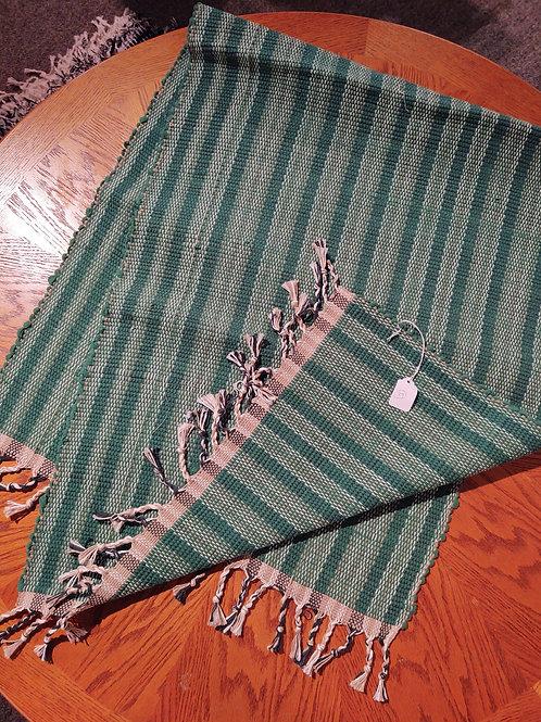 Dark Green Flannel Rug
