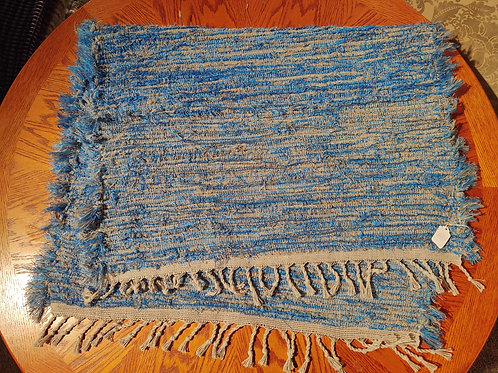 Blue and Gray Shag Rug