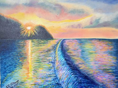 "Sunset on Lake Michigan by Chris ""C. J."" Falkavage"