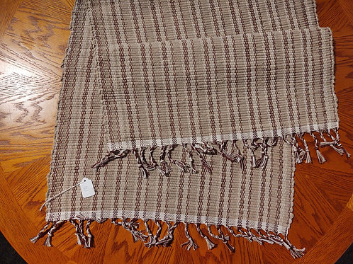 Taupe Burgundy Stripe Rug