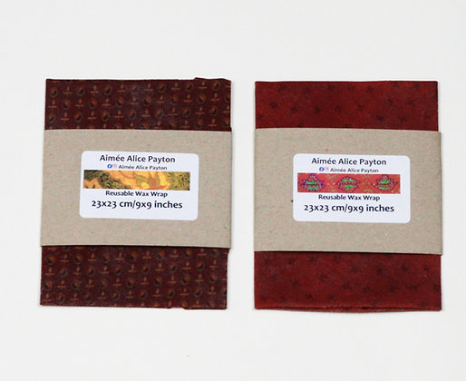 Red collection | beeswax food wraps